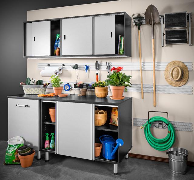 Garage cabinet gallery plc closets naples florida for Omni garage door
